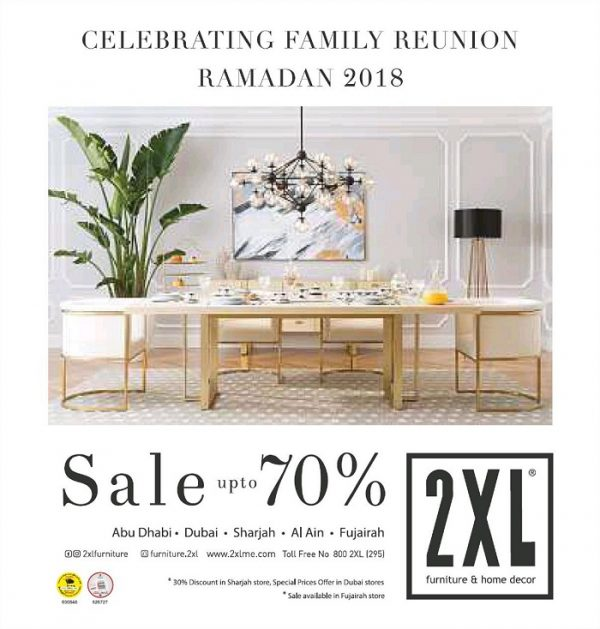 Ramadan 2018 Sale Up To 70% Off On Furniture And Home Decors At 2XL