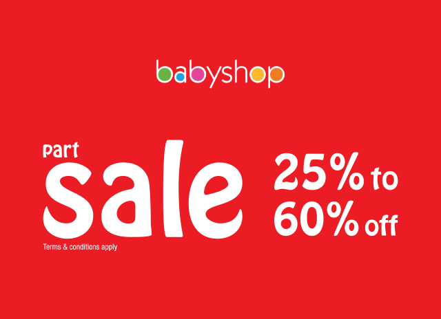 Baby Shop Offers Part Sale 25% To 60% Off