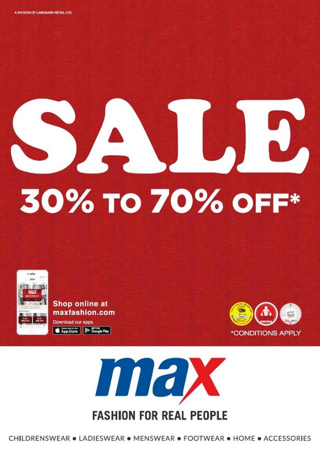 Max Offers - Part Sale 30 to 70% Off on Fashion Wear, Footwear, Home Decor !!! Limited Time Period
