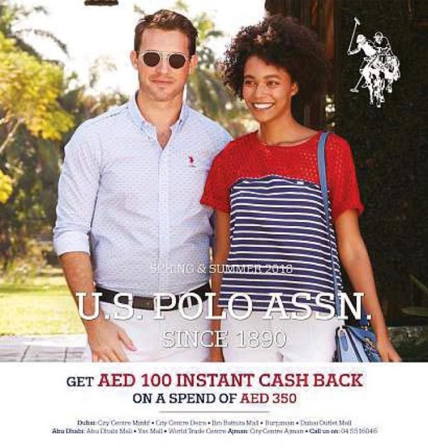 Spend 350 AED and Get 100 AED Cash Back - US Polo Assn Offers!!! This Offer is Valid for Limited Time Period
