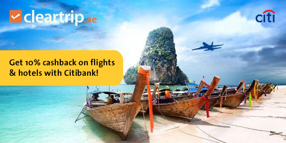 Citibank - Save Up to 10% Cashback on Flights and Hotels