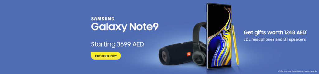 Wadi.com Offers - Samsung Galaxy Note9 for AED 3699 + Gift Worth AED 1248
