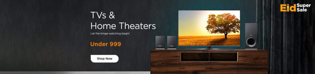 Offer on TVs, Soundbars, Home Theatre & Accessories - Wadi.com
