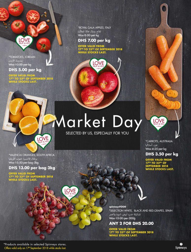 Spinneys Hypermarket Offers for Fruits and Vegetables!!! This Offer ends on 23 September 2018